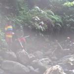 near high waterfall